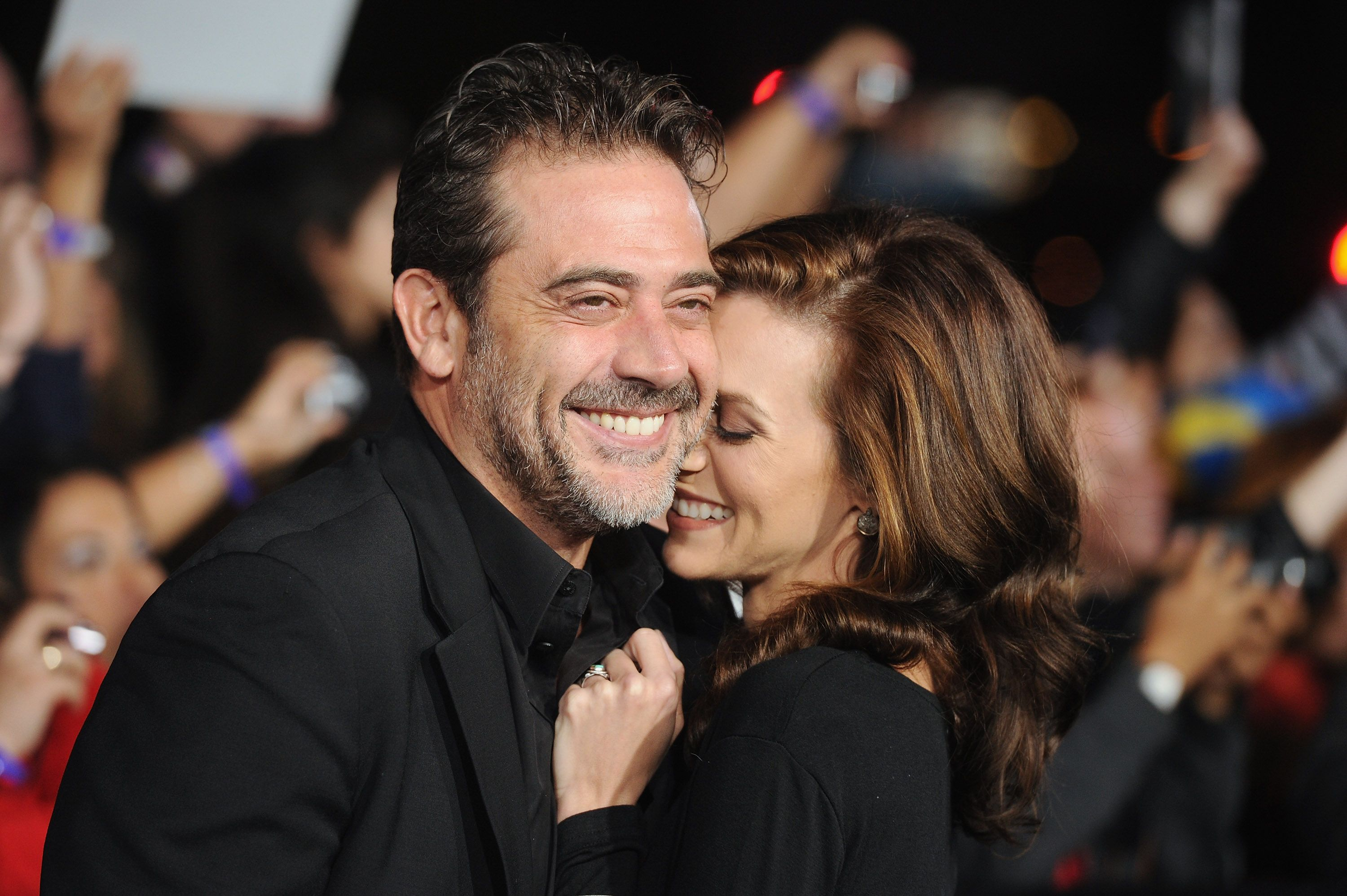 "Jeffrey Dean Morgan and Hilarie Burton at the premiere of ""The Twilight Saga: Breaking Dawn - Part 1"" in 2011 in Los Angeles 