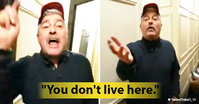'What are you doing in my building?' White man harasses Black neighbor waiting with friend