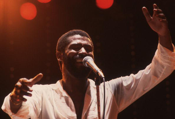 Teddy Pendergrass in concert at the Hammersmith Odeon in London in 1982. I Image: Getty Images.