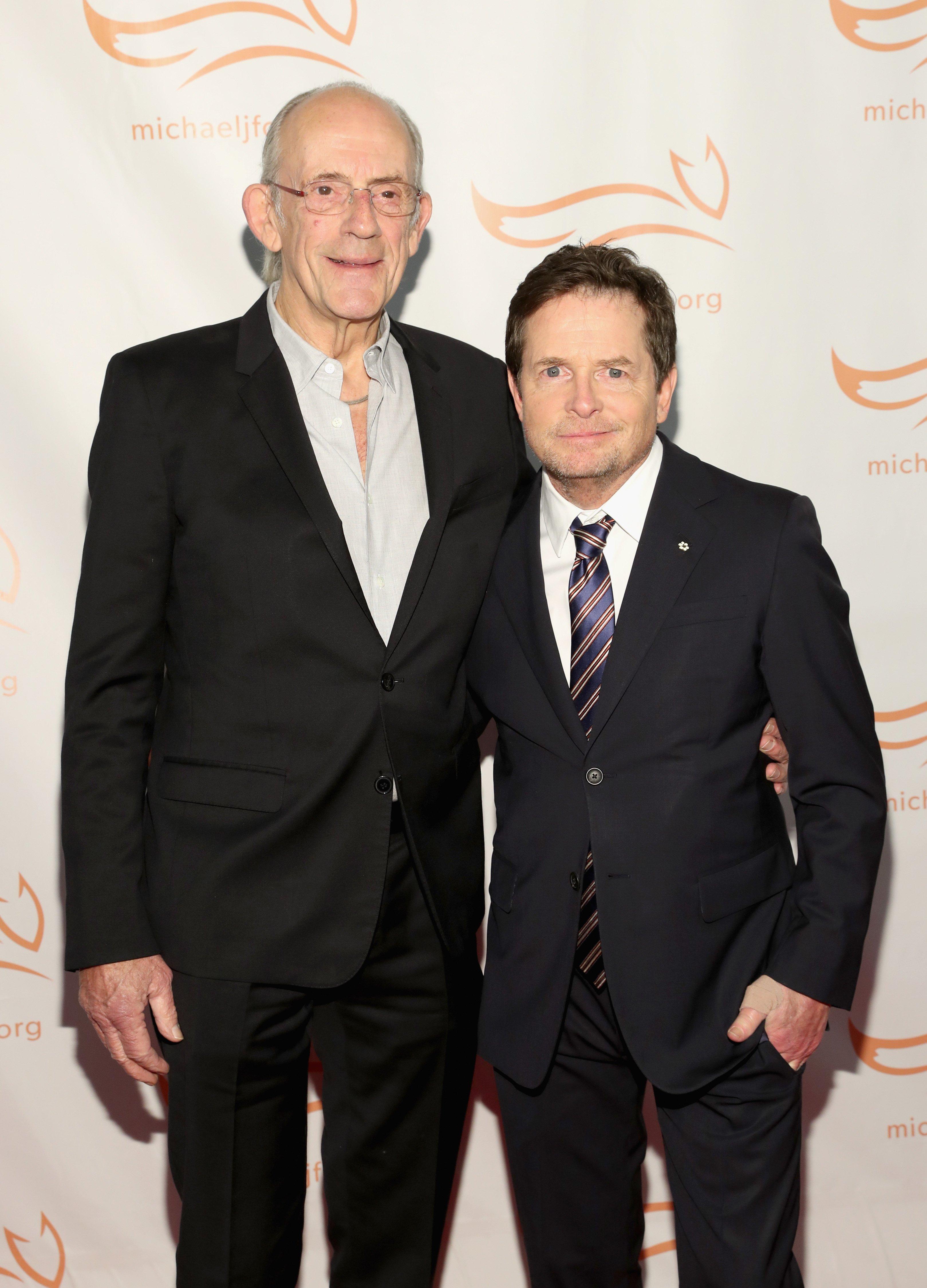 Christopher Lloyd und Michael J Fox   Quelle: Getty Images