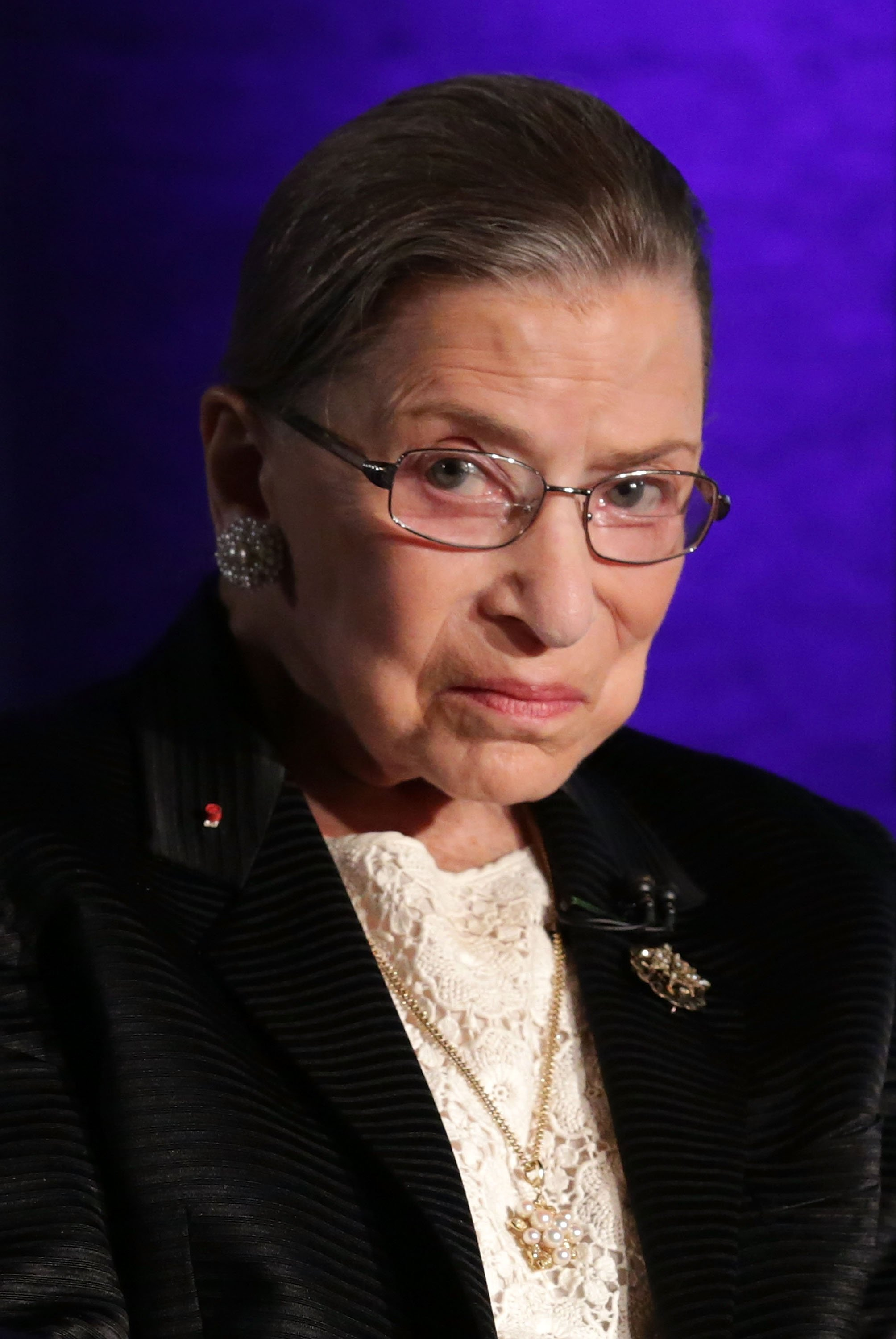 """Late Supreme Court Justice Ruth Bader Ginsburg at the taping of """"The Kalb Report"""" at the National Press Club in Washington, DC. 
