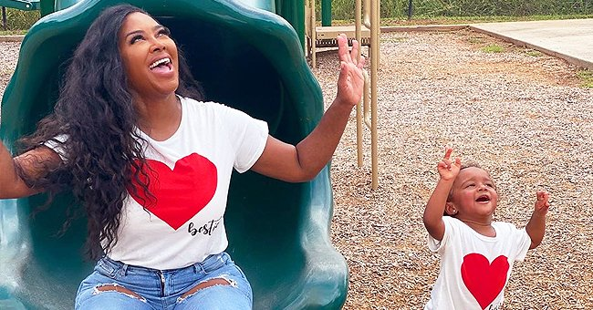 Kenya Moore and Her Daughter Brooklyn Go Twinning in Cute Heart-Print T-Shirts