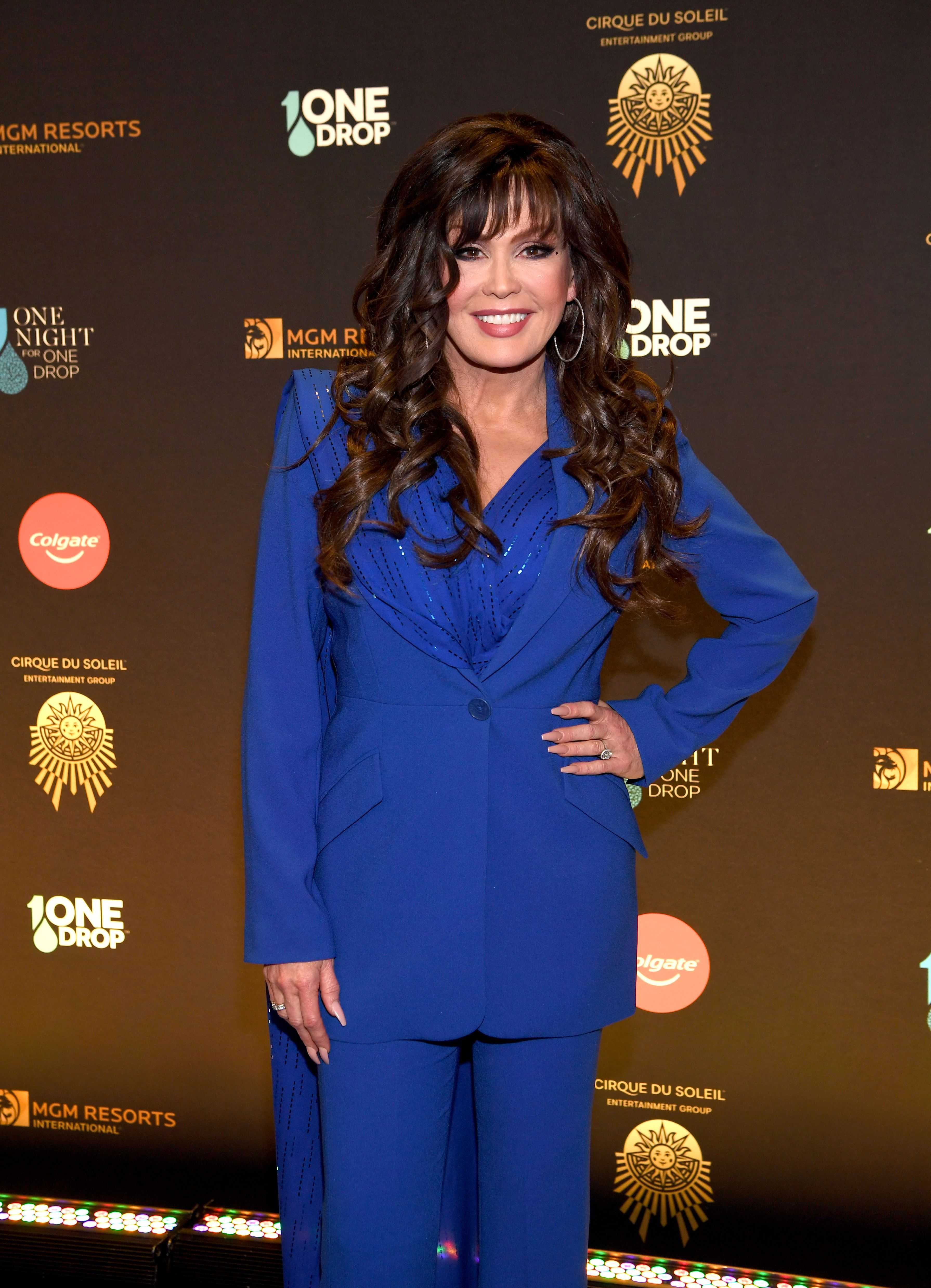 Marie Osmond atOne Night for One Drop - Imagined by Cirque du Soleil and brought to you by Colgateon March 08, 2019, in Las Vegas, Nevada | Photo:Denise Truscello/Getty Images