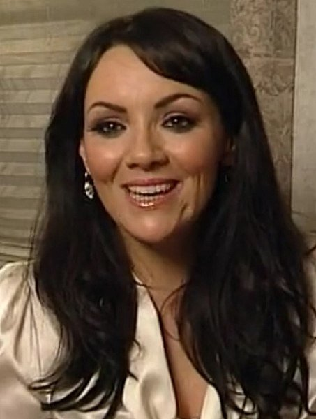 English actress and singer Martine McCutcheon promoting Activia in 2010. | Source: Wikimedia Commons