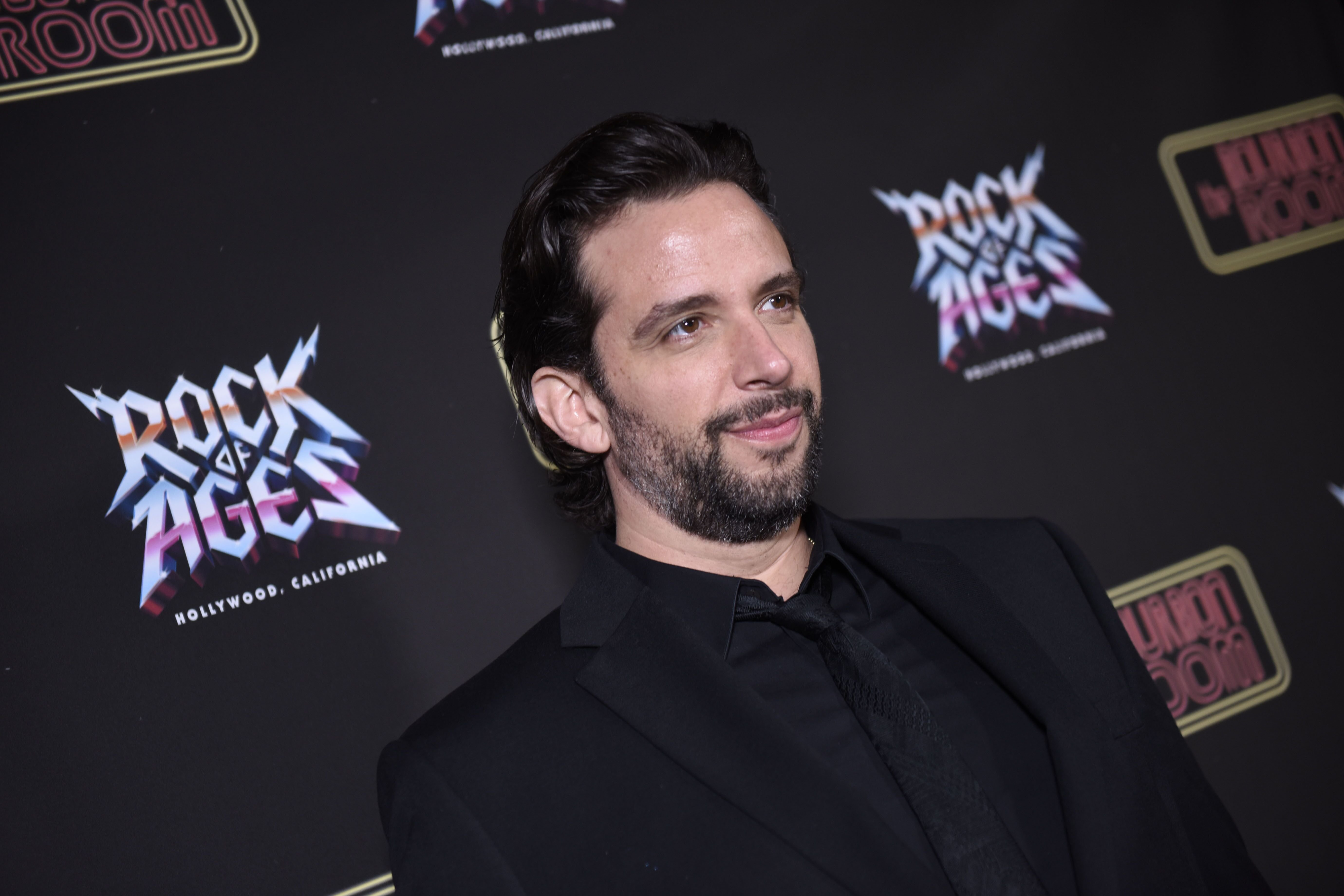 """Nick Cordero at the opening night of """"Rock Of Ages"""" at The Bourbon Room on January 15, 2020, in Hollywood, California 