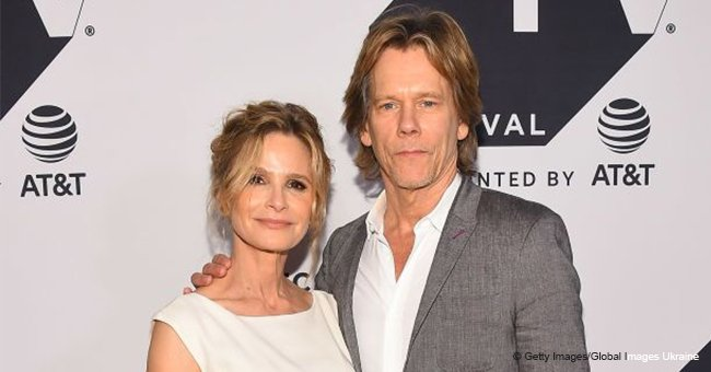 Kevin Bacon secretly sings a love song to his wife of 30 years while sitting next to their dog