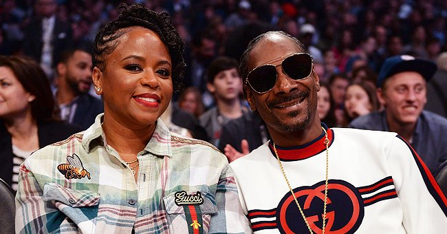 Snoop Dogg's Wife Shante Broadus Stuns in Black and White Dress with Minimal Jewelry in a Photo
