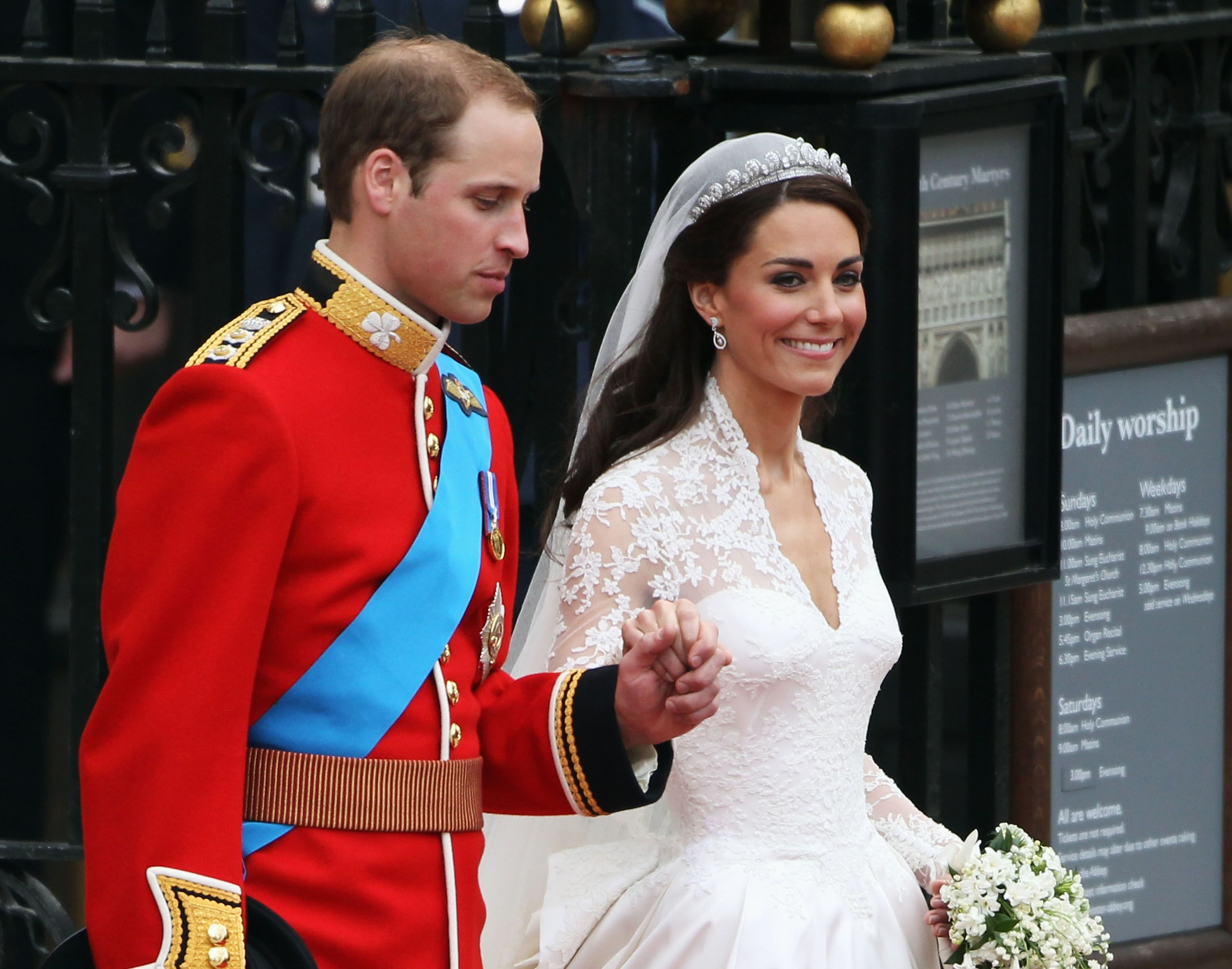 Kate Middleton et le Prince William lors de leur mariage. | Photo : Getty Images