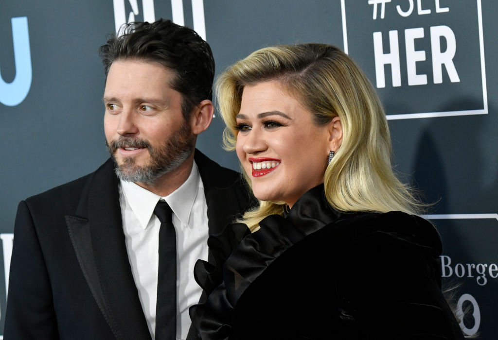 Brandon Blackstock and Kelly Clarkson pictured at the 25th Annual Critics' Choice Awards, 2020, Santa Monica, California.   Photo: Getty Images