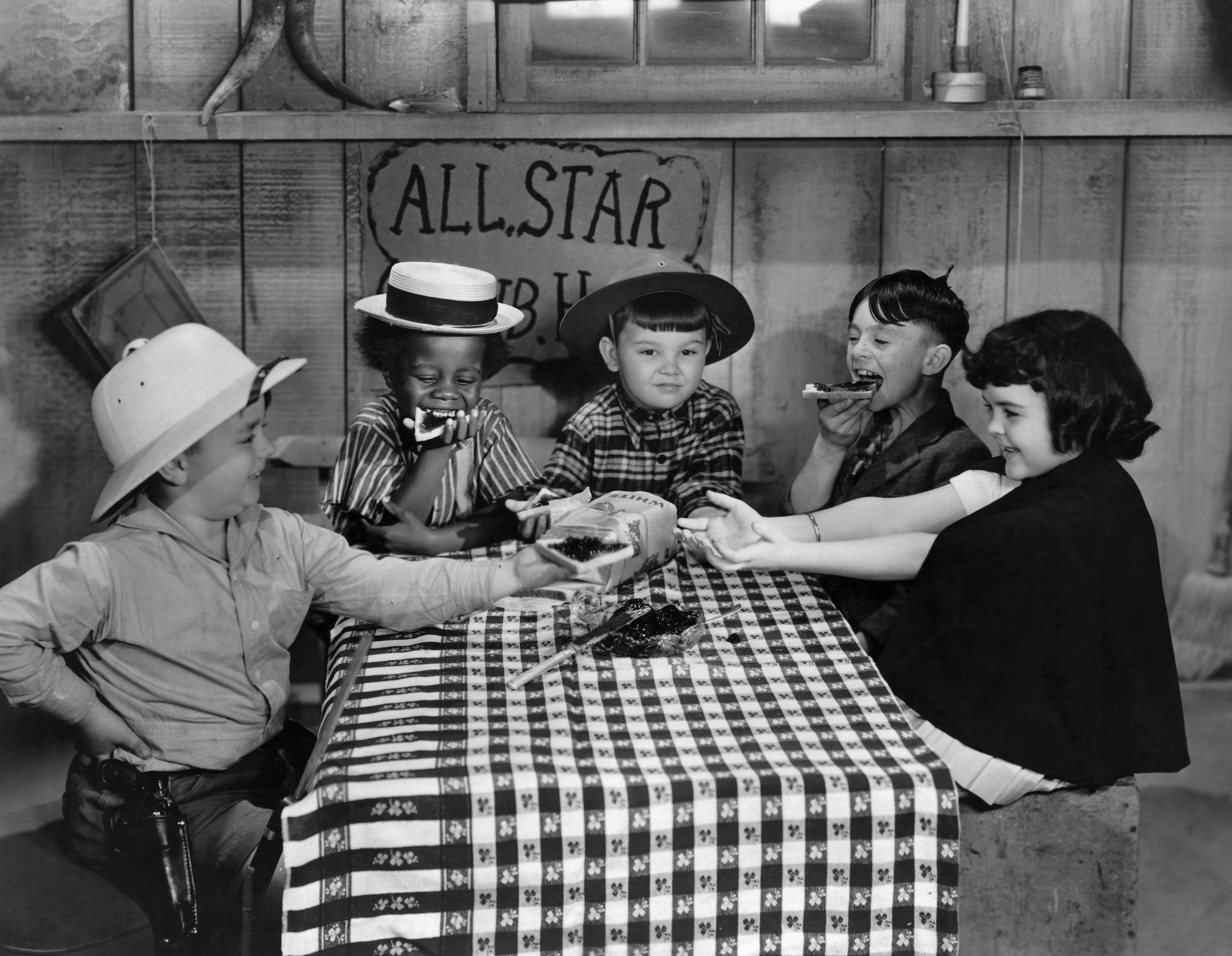 """A scene from the show """"Our Gang"""" in the '1920s 