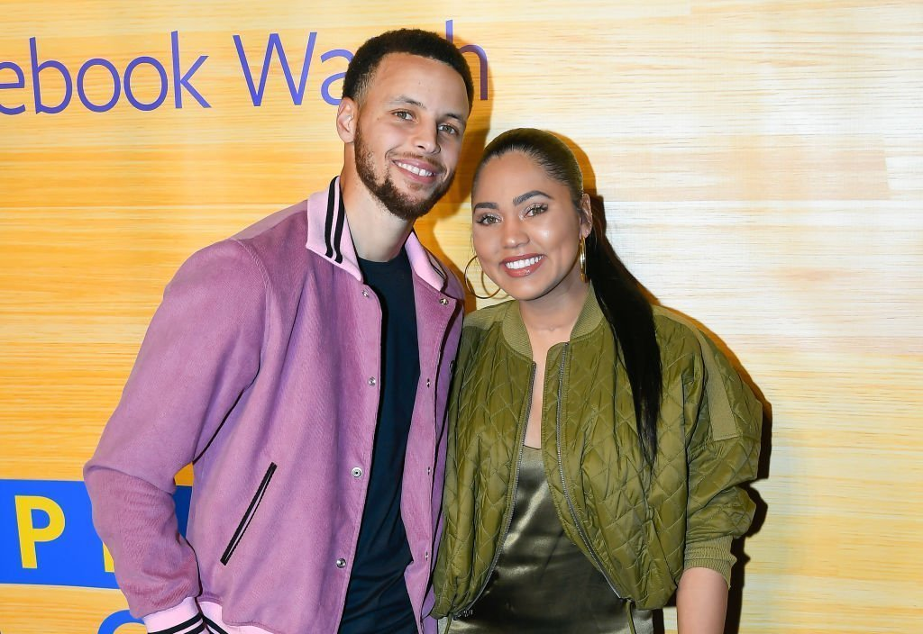 """Stephen Curry and Ayesha Curry attend the """"Stephen Vs The Game"""" Facebook Watch Preview at 16th Street Station on April 1, 2019 