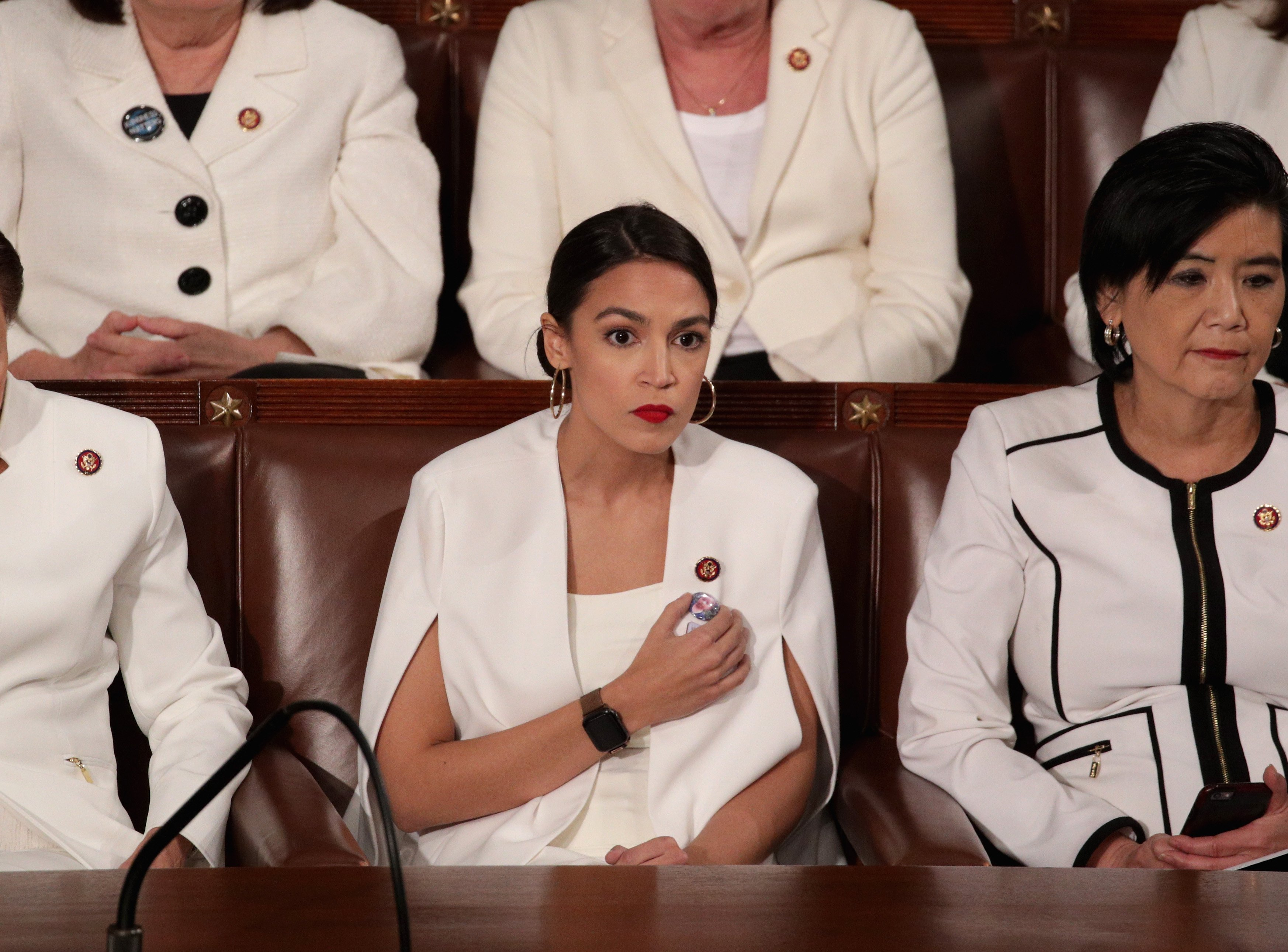 Alexandria Ocasio-Cortez at the State of the Union Speech in February 2019 | Photo: Getty Images