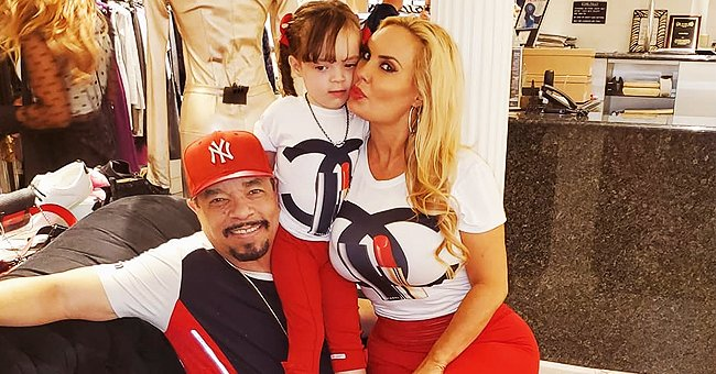 Ice-T's Wife Coco Shares Photo of Daughter Chanel Kissing Her as They Dress Alike in White Tops & Camo Pants