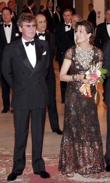 La Princesse Caroline de Hanovre et le Prince Ernst-August de Hanovre assistent au Bal de la Rose Monte Carlo 2007 au Monte-Carlo Sporting Club | Photo : GettyImage