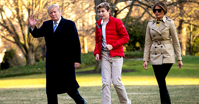 Barron Trump Appears to Be Taller Than Donald and Melania Trump in Heels When Arriving in NJ
