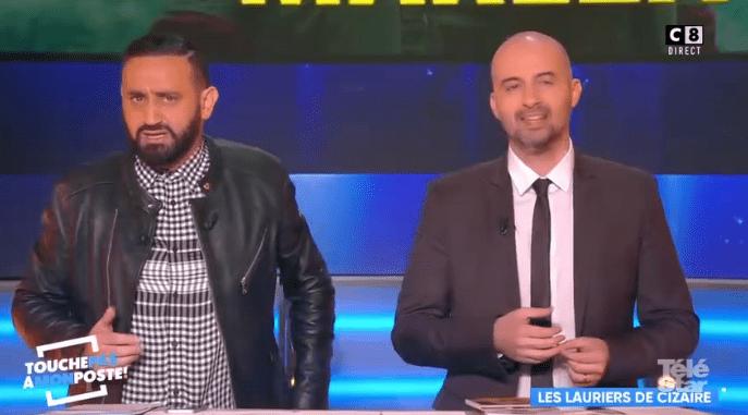 Cyril Hanouna anime une chronique lors d'un nouveau numéro en direct de Touche pas à mon poste, en compagnie de Cédric Cizaire. | Daily Motion/TéléStar