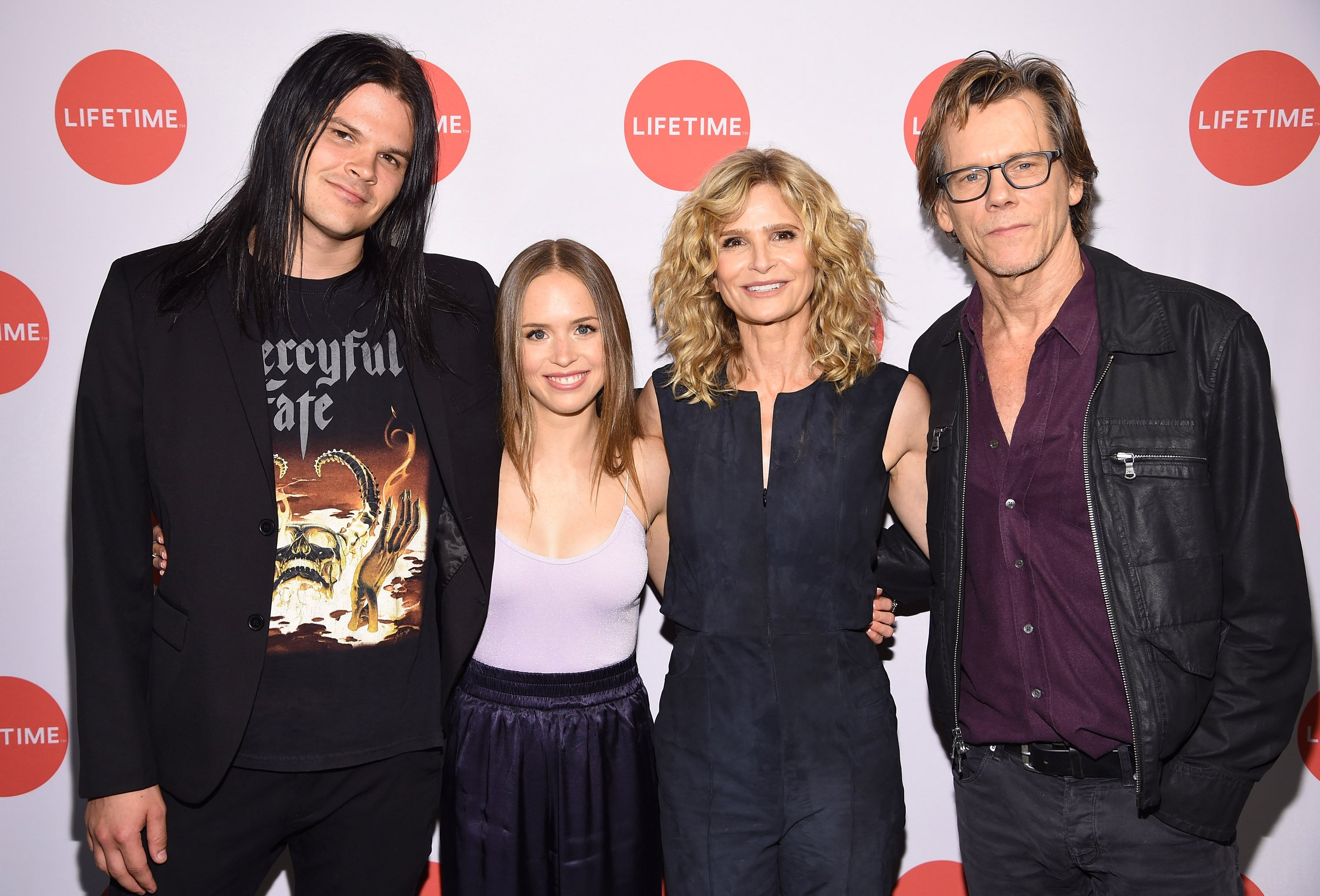 "Travis Bacon, Ryann Shane, Kyra Sedgwick and Kevin Bacon attend the ""Story Of A Girl"" screening at Neuehouse on July 17, 2017 