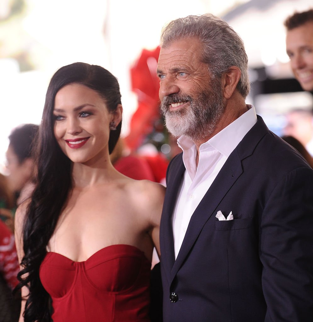 "Actor Mel Gibson and Rosalind Ross attend the premiere of ""Daddy's Home 2"" at Regency Village Theatre 