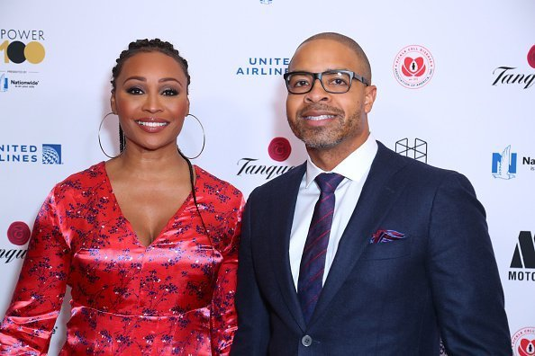 Cynthia Bailey and Mike Hill attends Ebony Magazine's Ebony's Power 100 Gala - Arrivals at The Beverly Hilton Hotel on November 30, 2018 | Photo: Getty Images