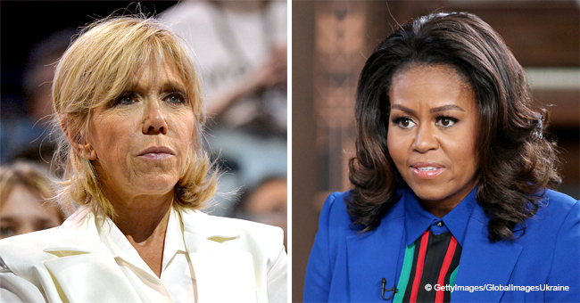 Pourquoi Brigitte Macron n'a pas accueilli Michelle Obama lors de son arrivée à Paris