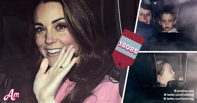 Kate Middleton wieder in demselben Look, wie 2009, während sie das Weihnachtslunch mit Kindern besuchte
