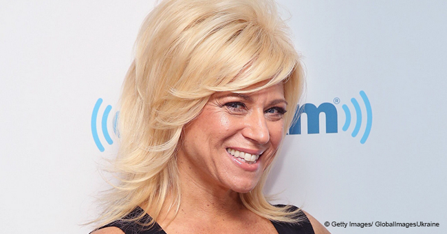 Theresa Caputo Bares Her Legs while Donning a Denim Dress to Accentuate Her Slim Figure
