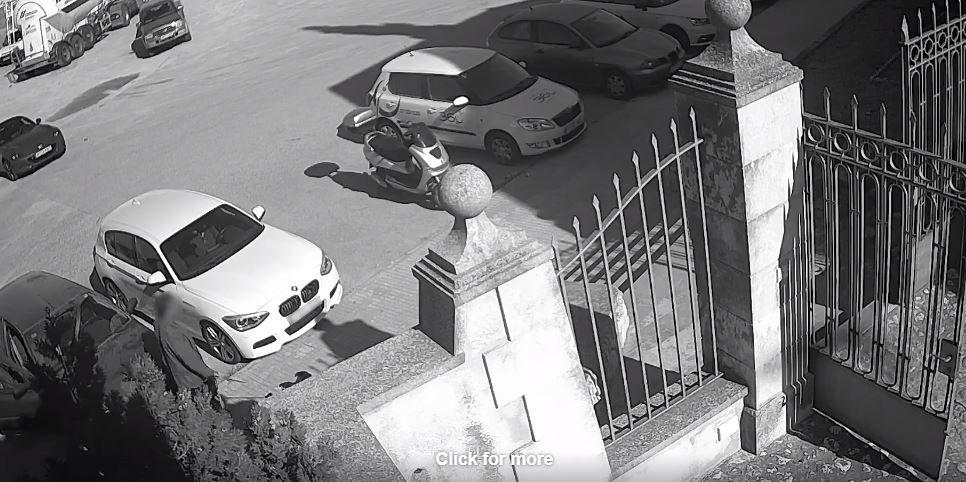 Imágenes de una cámara de videovigilancia. | Foto: Facebook / Policia de Palma
