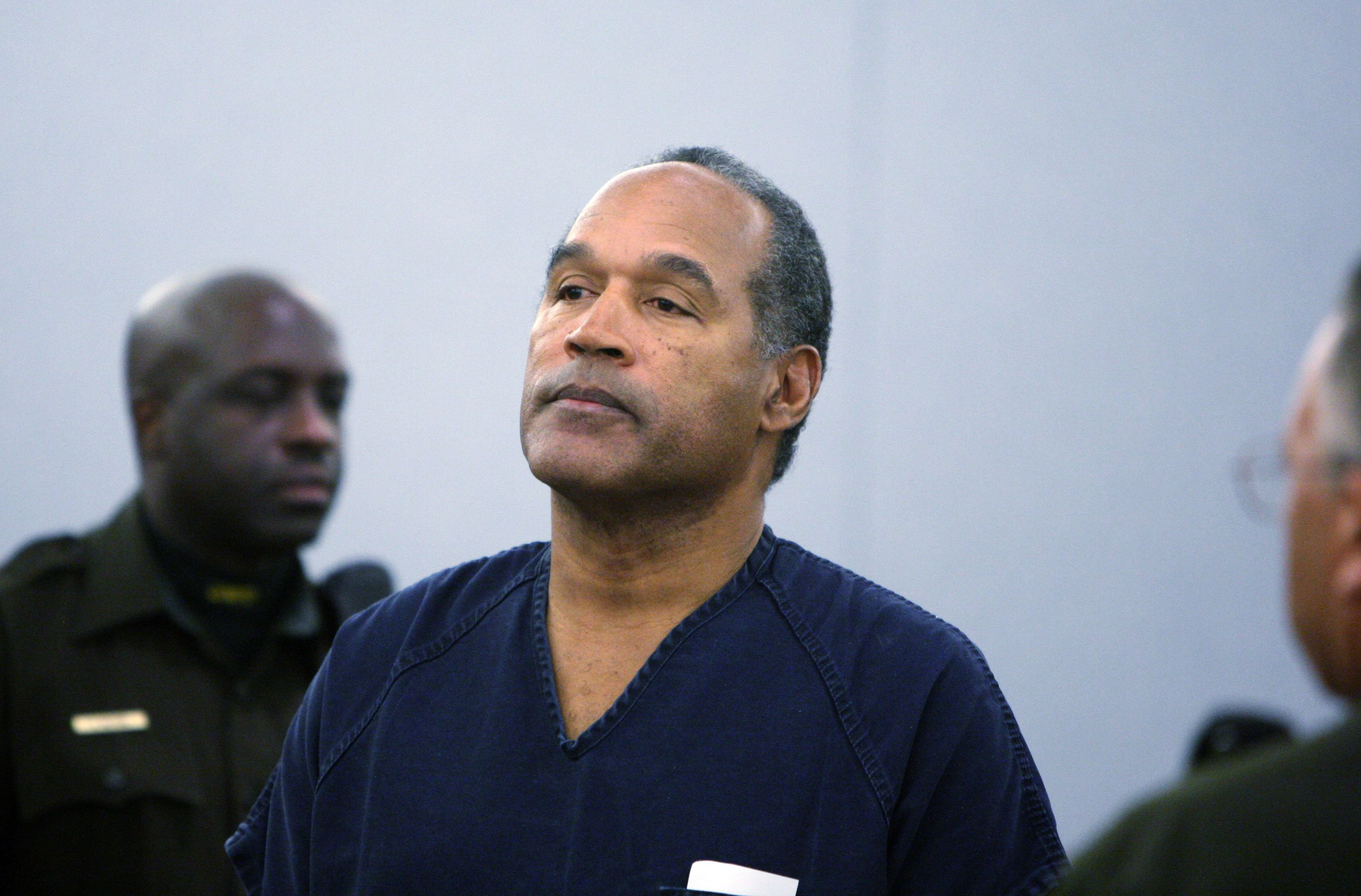 O.J. Simpson at his sentencing at the Clark County Regional Justice Center in 2008 in Las Vegas, Nevada | Source: Getty Images