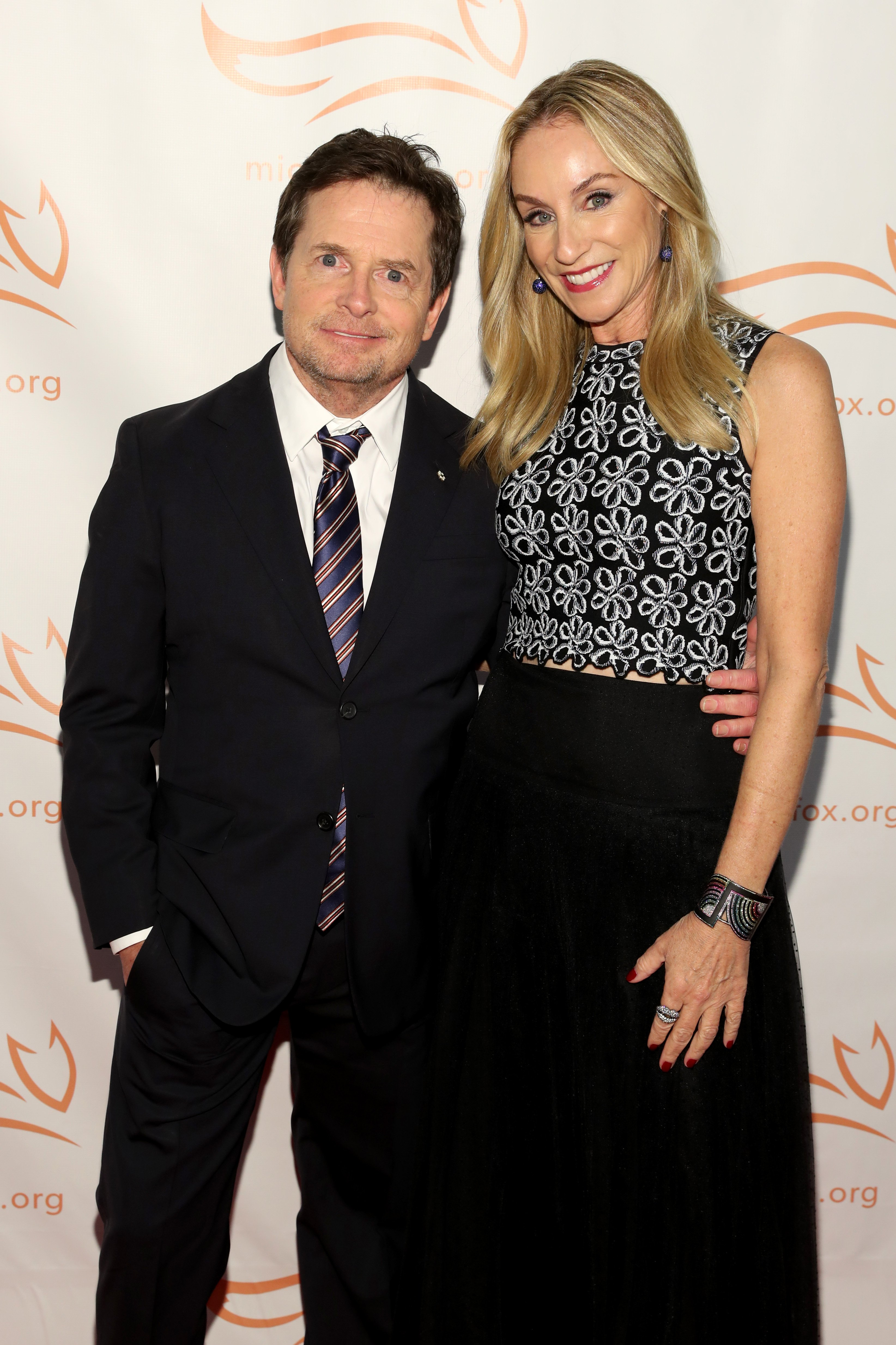 Michael J. Fox and Tracy Pollan attend Fox's Parkinson's foundation benefit in New York City on November 10, 2018 | Photo: Getty Images