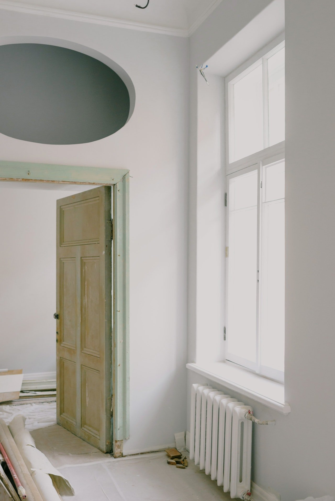 I started renovating the house on my own.   Source: Pexels