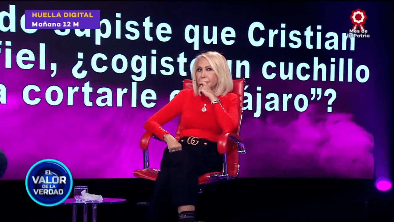 Laura siendo sometida a la prueba de la verdad │Imagen tomada de: YouTube / Latina Entretenimiento