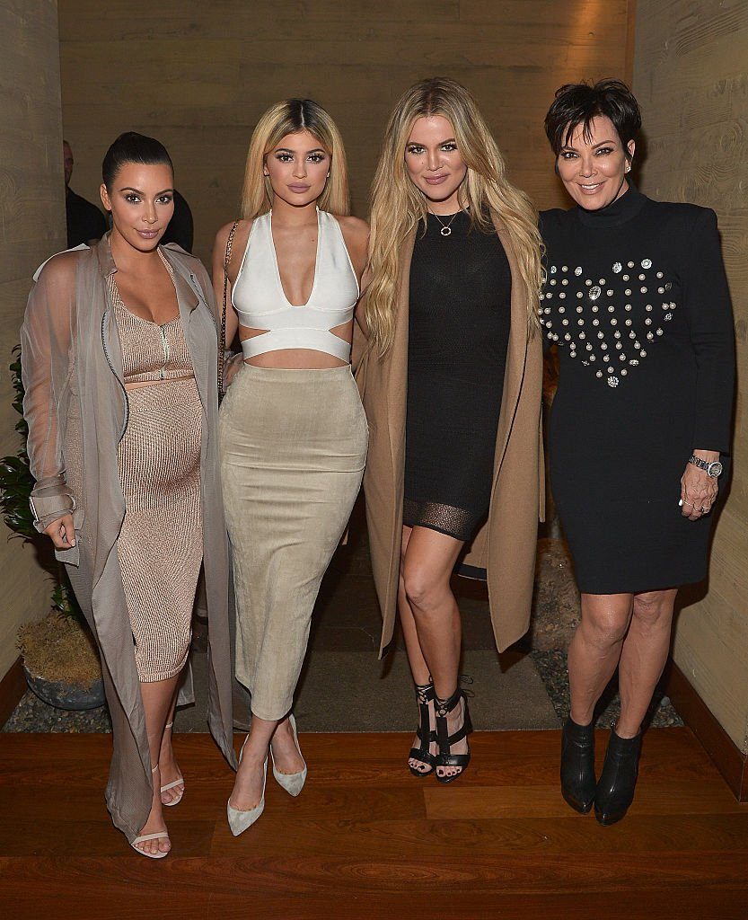 Kim Kardashian West, Kylie Jenner, Khloe Kardashian and Kris Jenner at a launch in Malibu on September 1, 2015 | Photo: Getty Images
