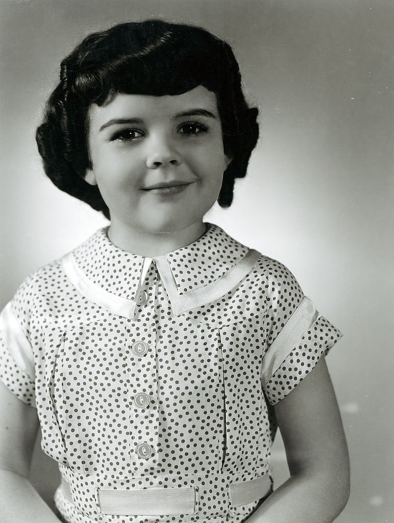 """A portrait of child star Darla Hood in the """"Our Gang"""" series circa 1935 