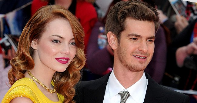 """Emma Stone and Andrew Garfield attend the World Premiere of """"The Amazing Spider-Man 2"""", April 2014 