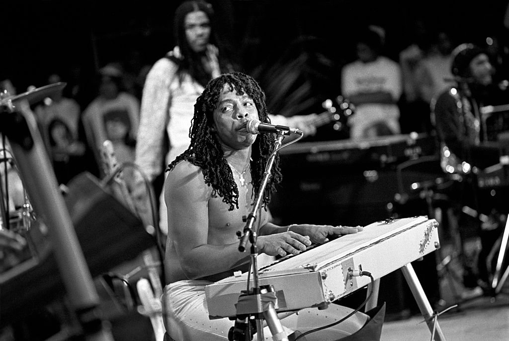 Rick James performing at the Jamaican World Music Festival on November 27, 1982   Photo: Getty Images