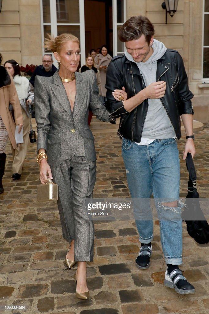 Céline Dion et Pepe Munoz assistent au défilé RVDK Ronald Van Der Kemp Haute Couture Spring-Summer 2019 show dans le cadre de la Paris Fashion Week le 23 janvier 2019, à Paris, France.| Photo : Getty Images.