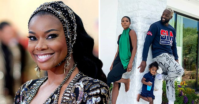 Gabrielle Union & Dwyane Wade Pose with Daughter Kaavia as the Actress Shows off a Cool Dress