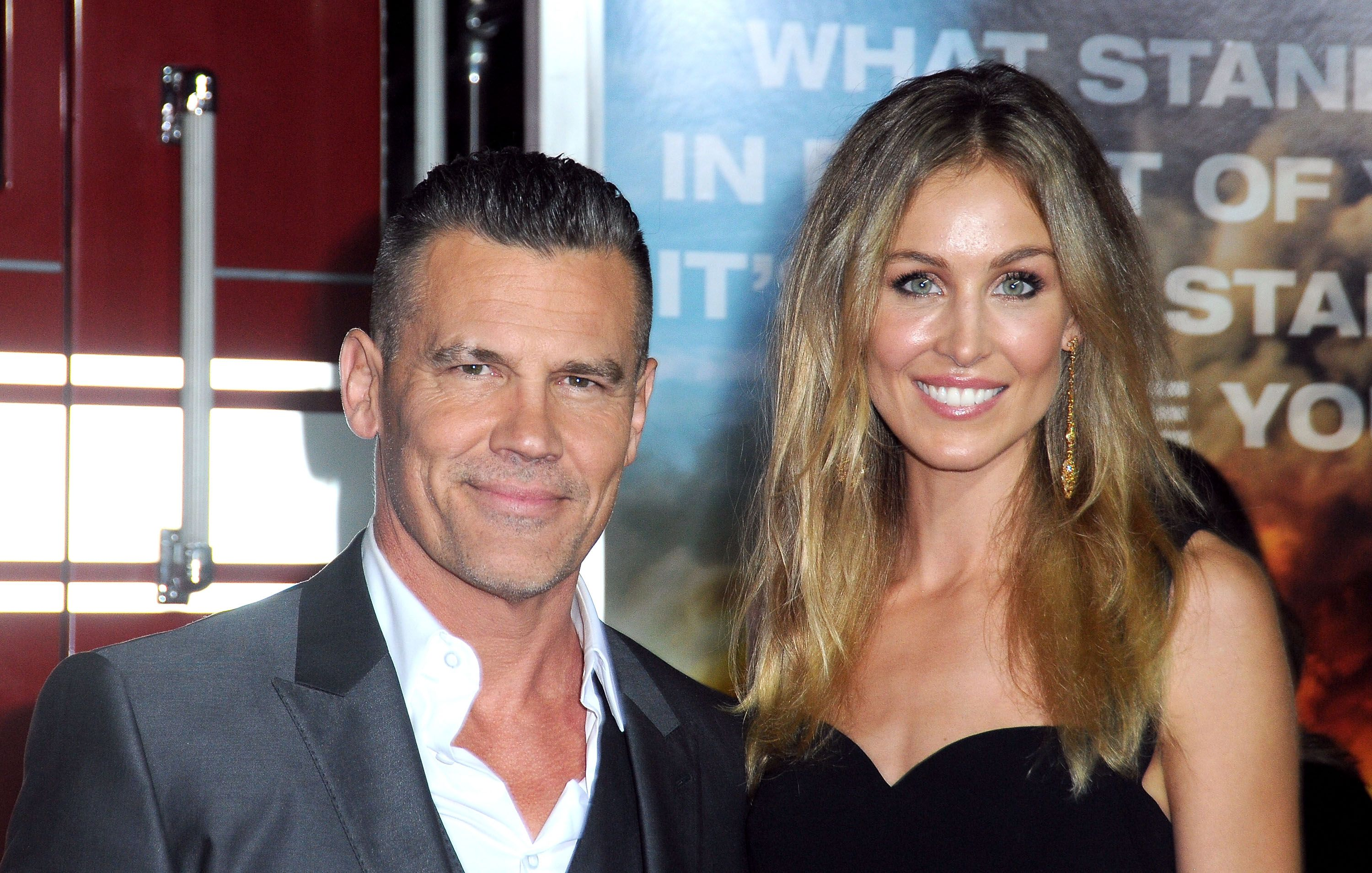 """Josh Brolin and Kathryn Boyd atthe premiere of """"Only The Brave""""on October 8, 2017, in Westwood, California 