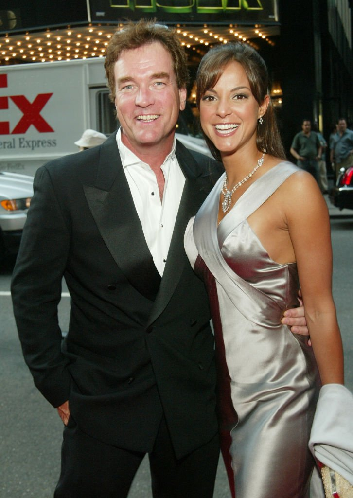 Actor John Callahan and his wife actress Eva La Rue Callahan arrive at the National 2003 Gracie Allen Awards at The New York Hilton June 26, 2003 | Photo: Getty Images