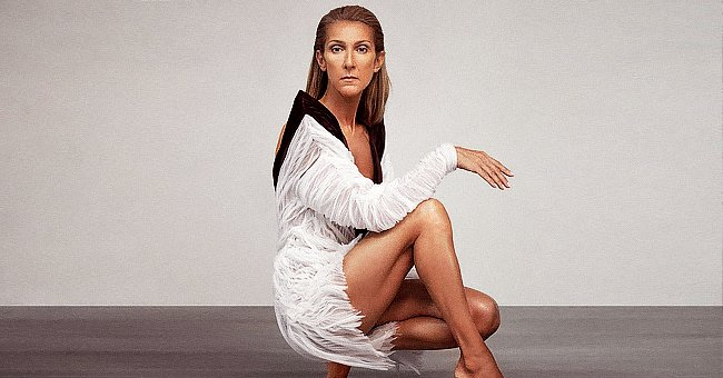 Celine Dion, 52, Shows Endless Legs Posing in a Backless Mini Dress and and Bare Feet