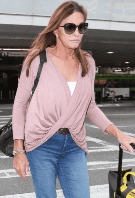 "Caitlyn Jenner arriving at the airport after being evicted from ""I'm a Celebrity...Get Me Out Of Here,"" on December 10, 2019 in Los Angeles, California 