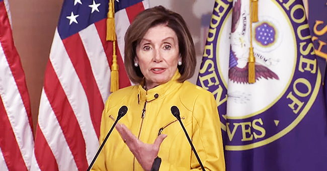 Nancy Pelosi Wears a Snazzy Mustard-Yellow Leather Jacket in Honor of the Golden State Warriors