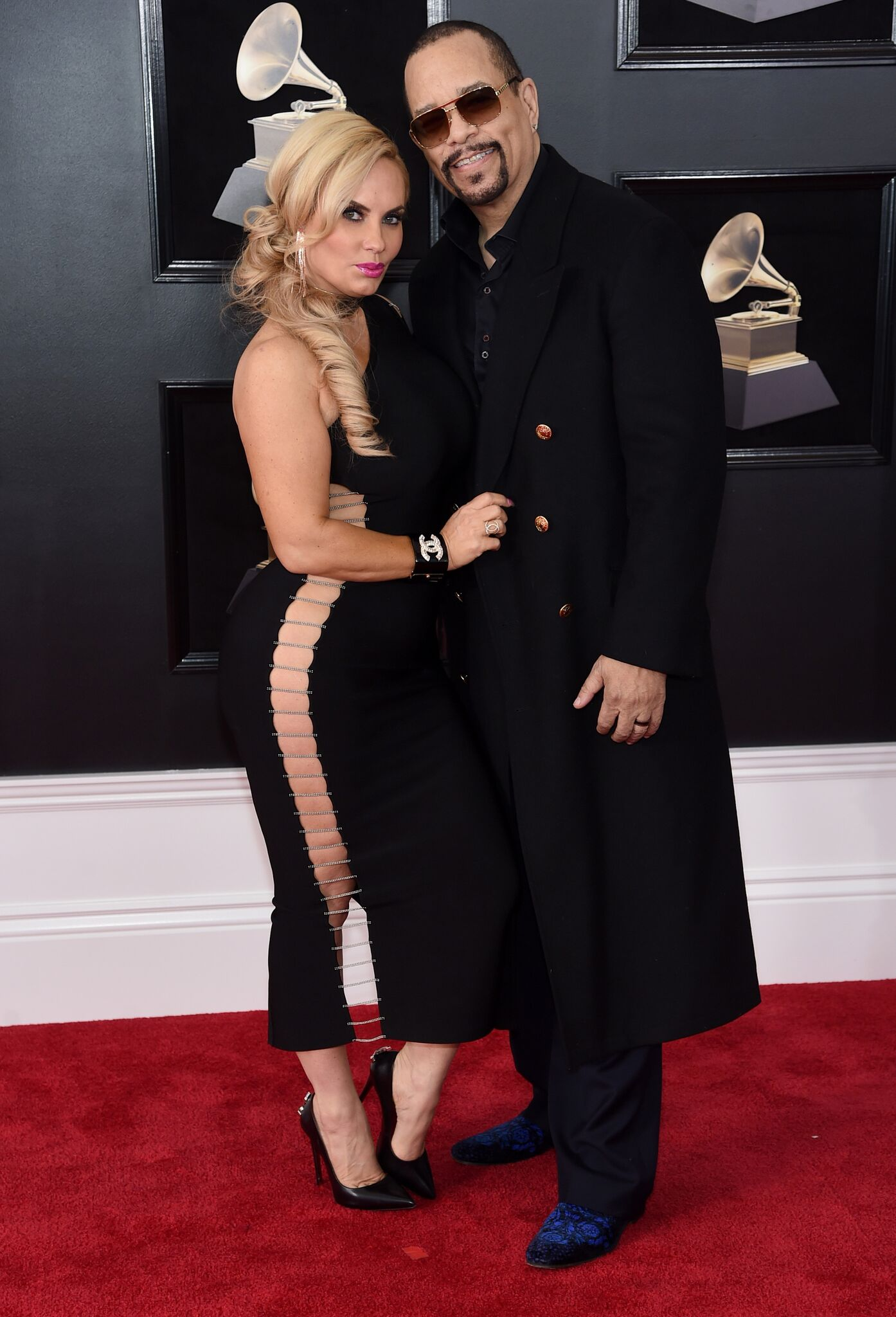 Coco Austin and Ice-T attend the 60th Annual GRAMMY Awards   Getty Images