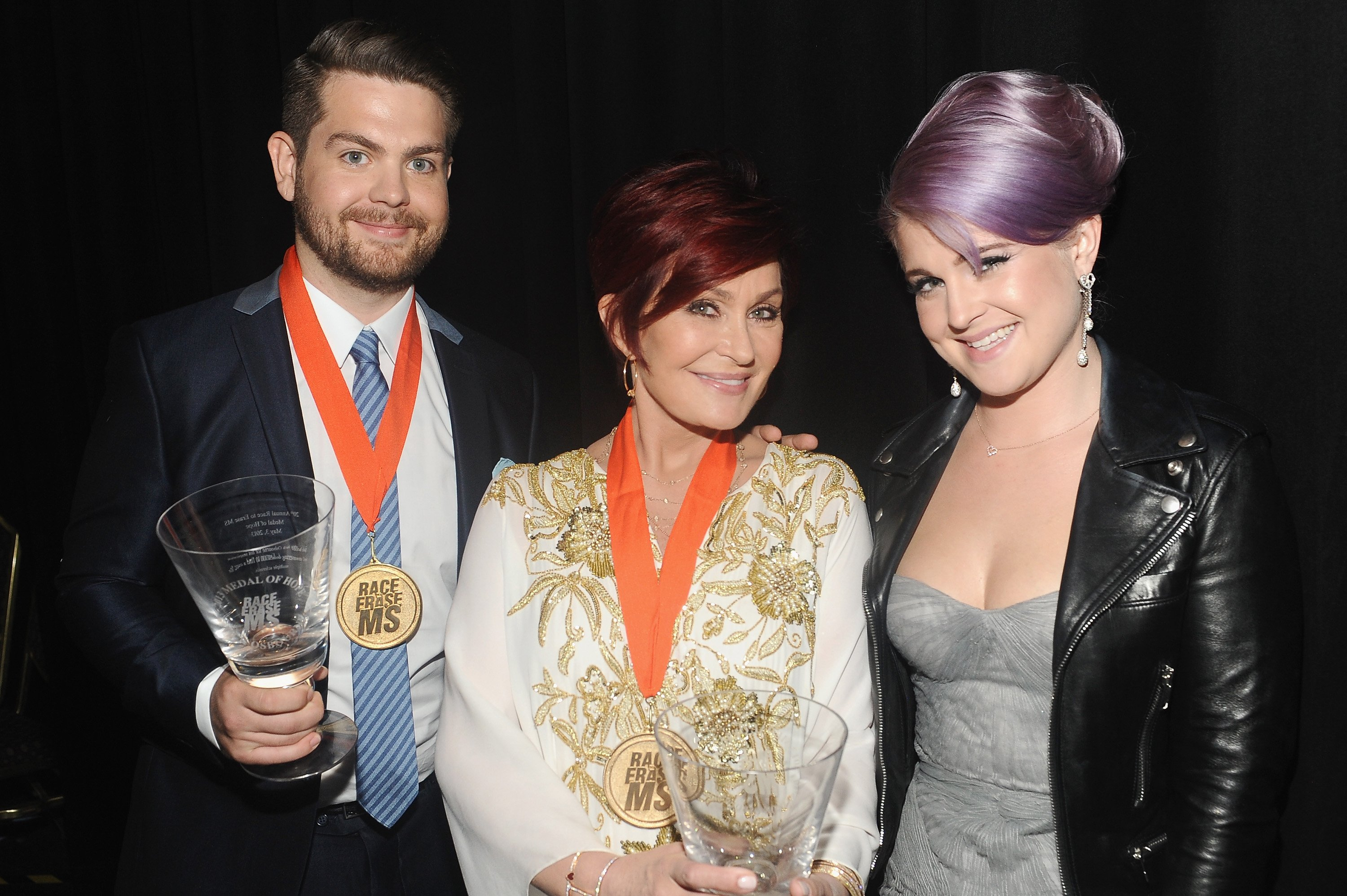 """Sharon with Kelly and Jack at  20th Annual Race To Erase MS Gala """"Love To Erase MS"""" in California, 2013. 