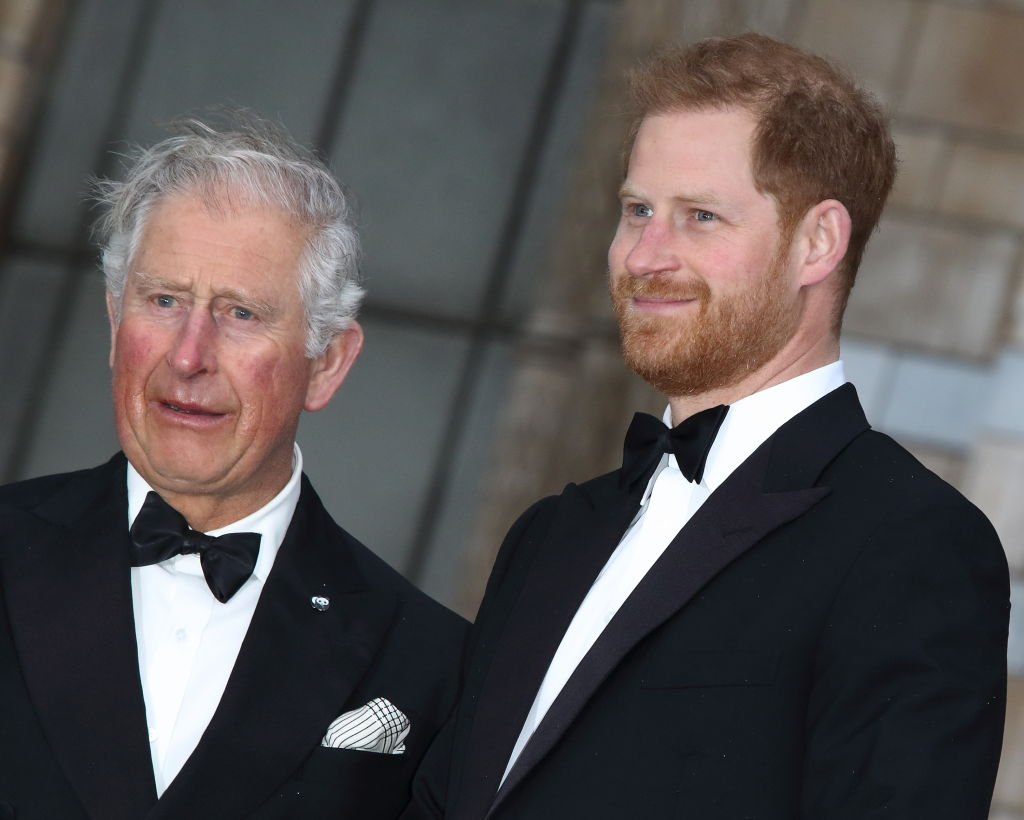 HRH Prince Harry with HRH Prince Charles at the World Premiere of Netflix's Our Planet at the Natural History Museum, Kensington. | Photo: Getty Images