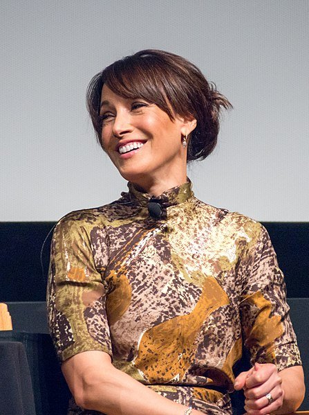"Jennifer Beals during the ""In the Soup"" (1992) panel at the 2018 Tribeca Film Festival. 