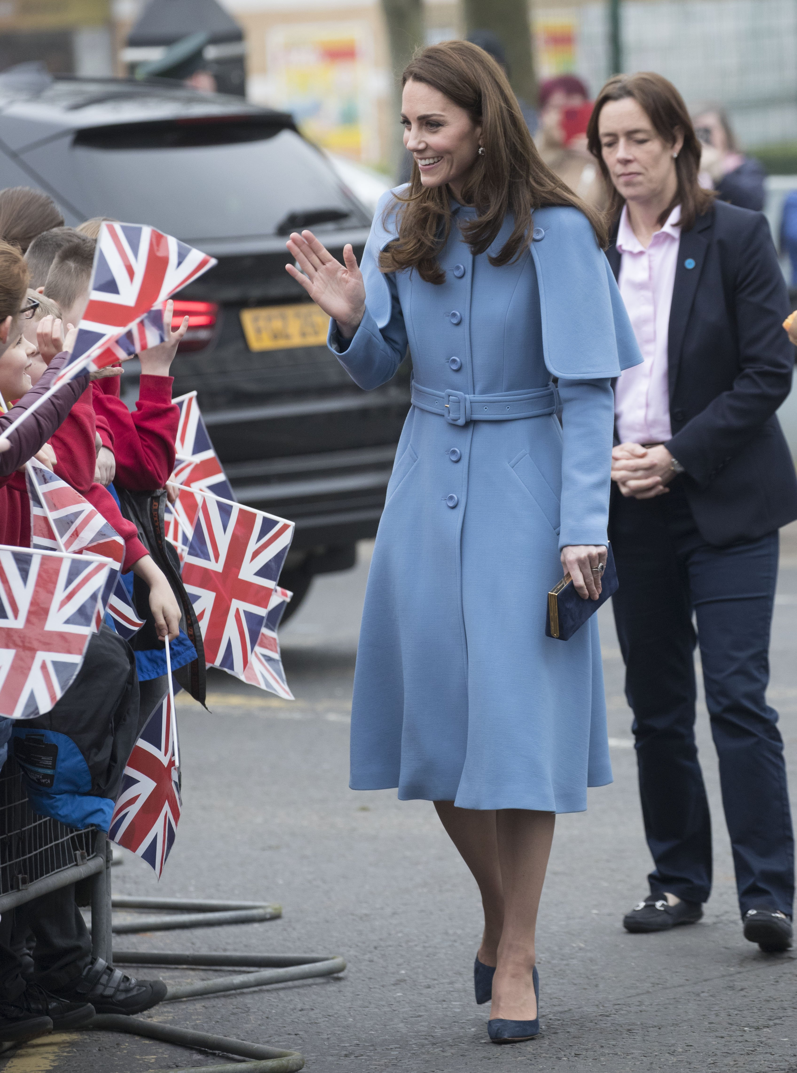 Kate Middleton, the Duchess of Cambridge, meeting well-wishers in Ballymena, Northern Ireland | Photo: Getty Images