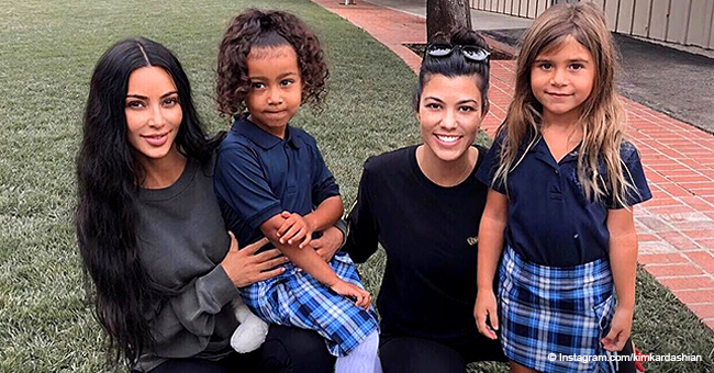 Kourtney Kardashian's Daughter Penelope Turns Heads, Wearing Nearly $400 Gucci Shoes to School