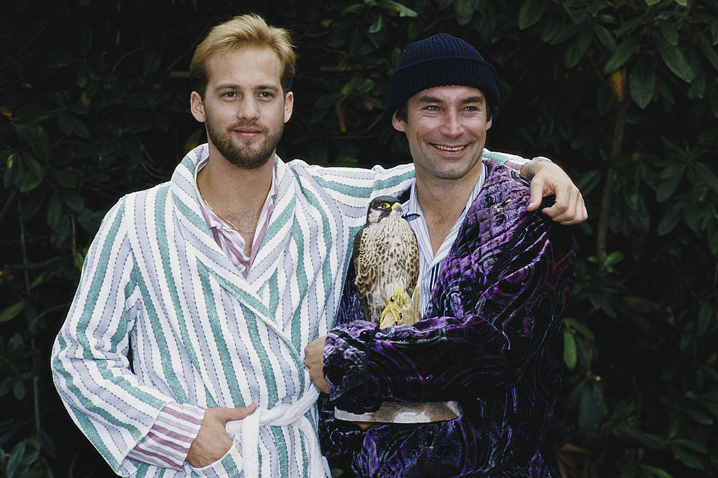 Edwards and Timothy Dalton. Image Credit: Getty Images