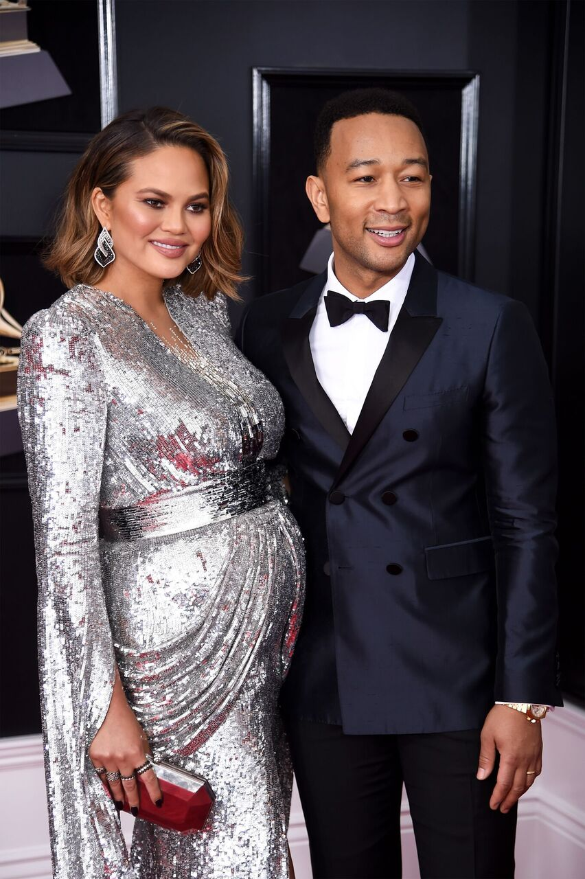Chrissy Teigen and recording artist John Legend attend the 60th Annual GRAMMY Awards. | Source: Getty Images